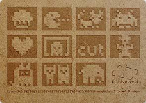 Bitboard-Gutschein aus Holz