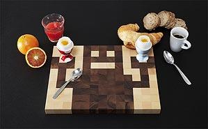 Foto eines Bitboard-Schneidebrettes als Frühstücksbrett