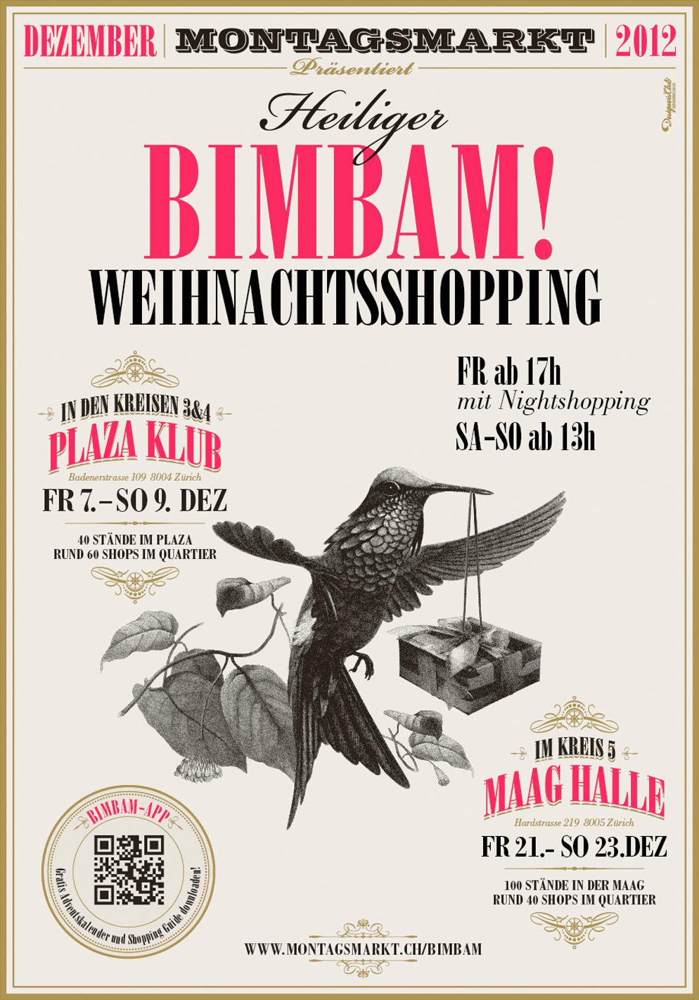 """Flyer zum Weihnachtsmarkt """"Heiliger Bimbam!"""""""