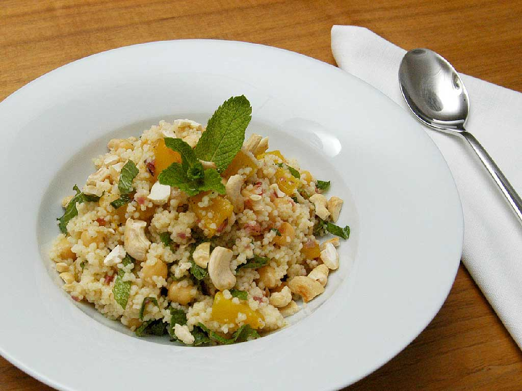 Angerichtet: Couscous-Kürbis-Minze-Salat