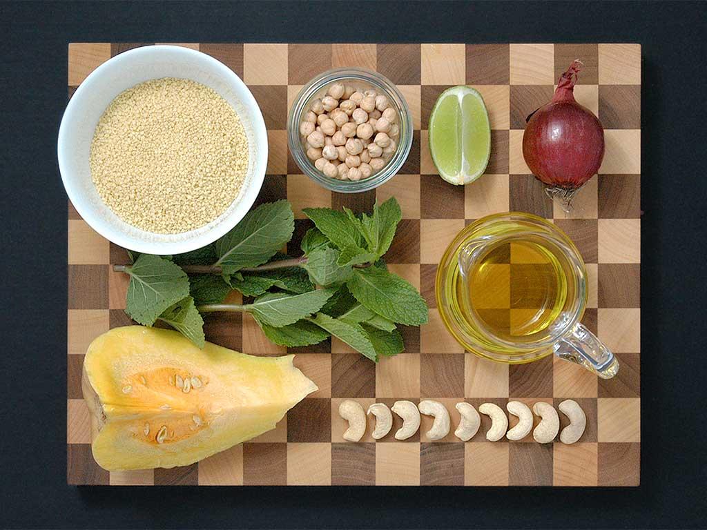 Couscous-Kürbis-Minze-Salat