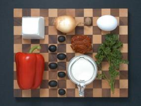 Zutaten für mediterranes Frischkasesoufflée