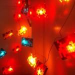 Space Invaders Beleuchtung für den Weihnachtsmarkt