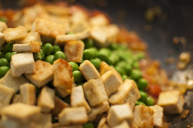 Bitboard Tofu und Gemüse